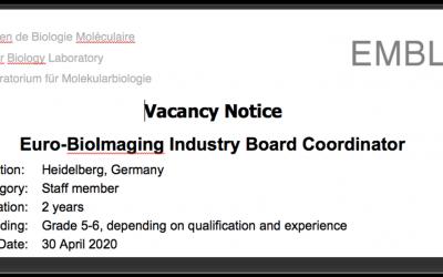 Job opportunity: Euro-BioImaging Industry Board Coordinator